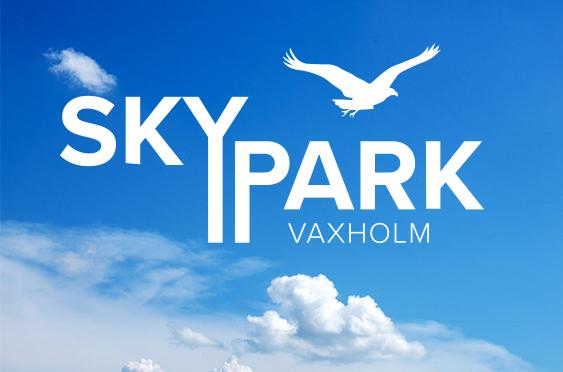 Skypark logo negativ