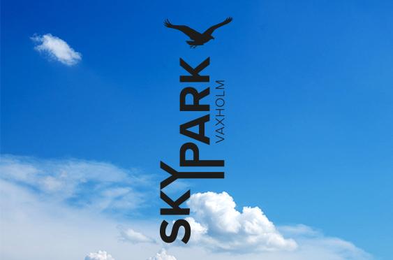 Skypark logo stående